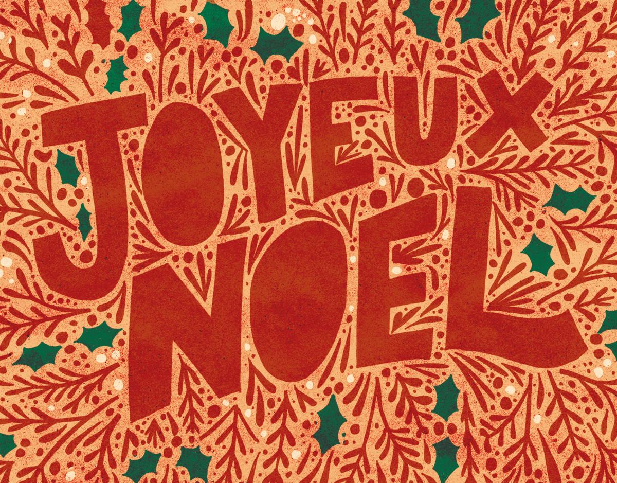 Bright Joyeux Noel Holiday Card