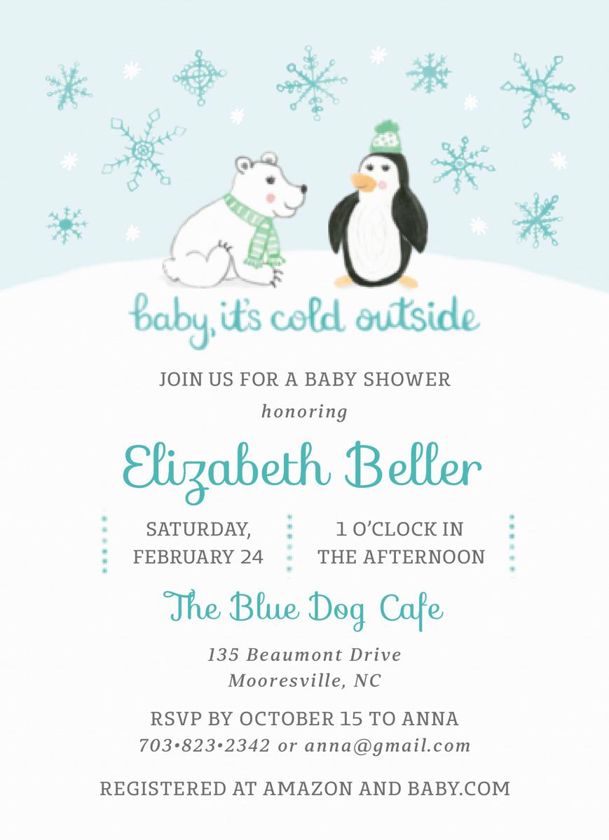 Winter Baby Shower Blue