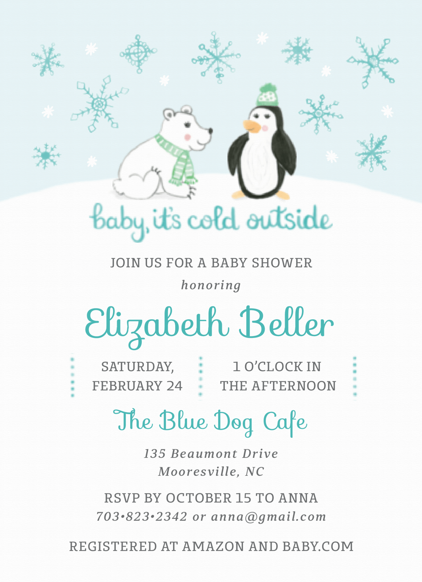 Winter Baby Shower Blue