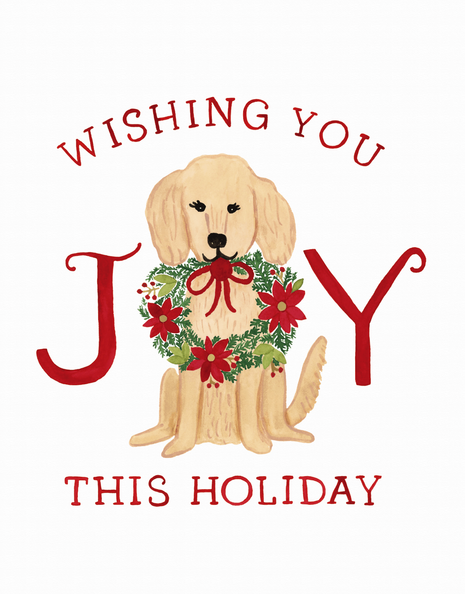 Holiday Golden Retriever
