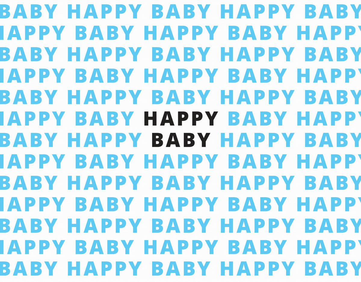 Happy Baby Blue