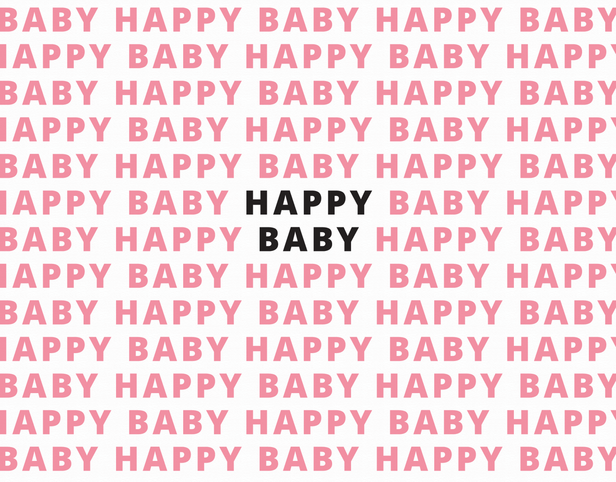 Happy Baby Pink