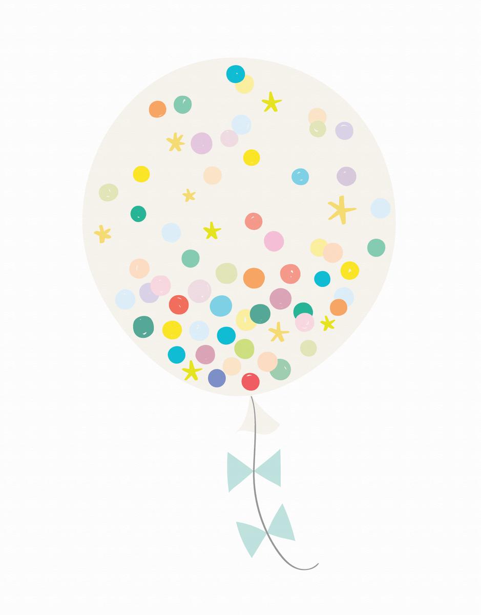 Confetti Balloon Cream