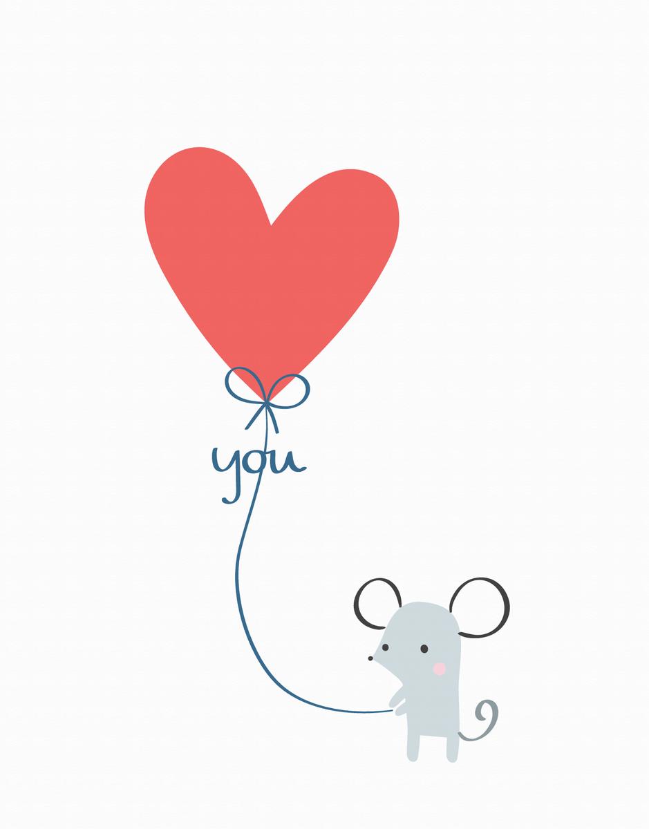 Mouse Love Balloon
