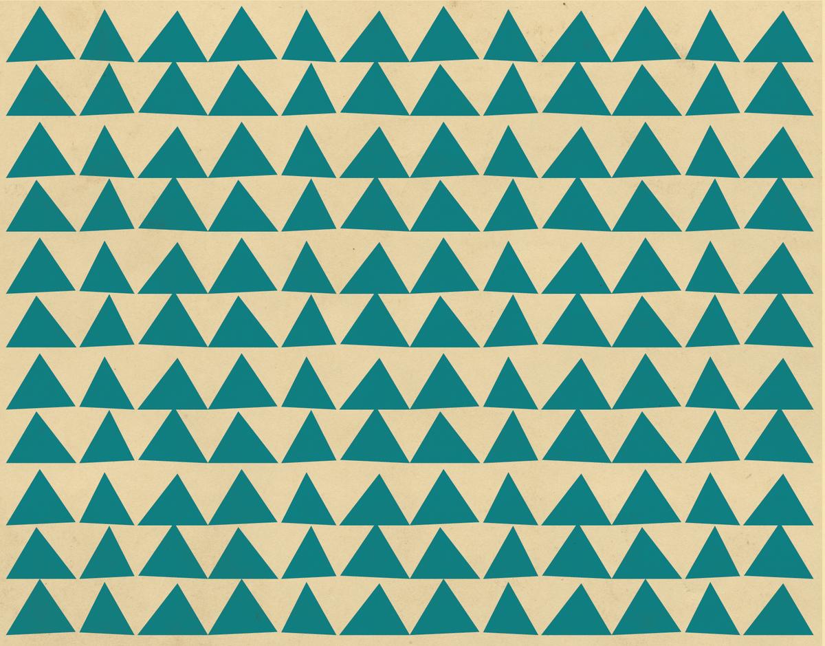 Organic Blue Triangles Stationery