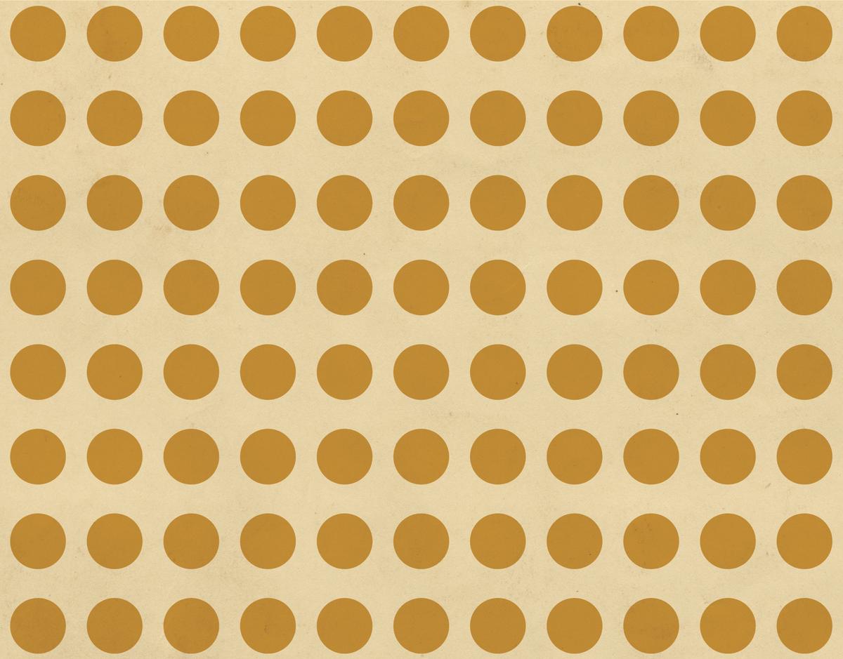 Goldenrod Polka Dots stationery