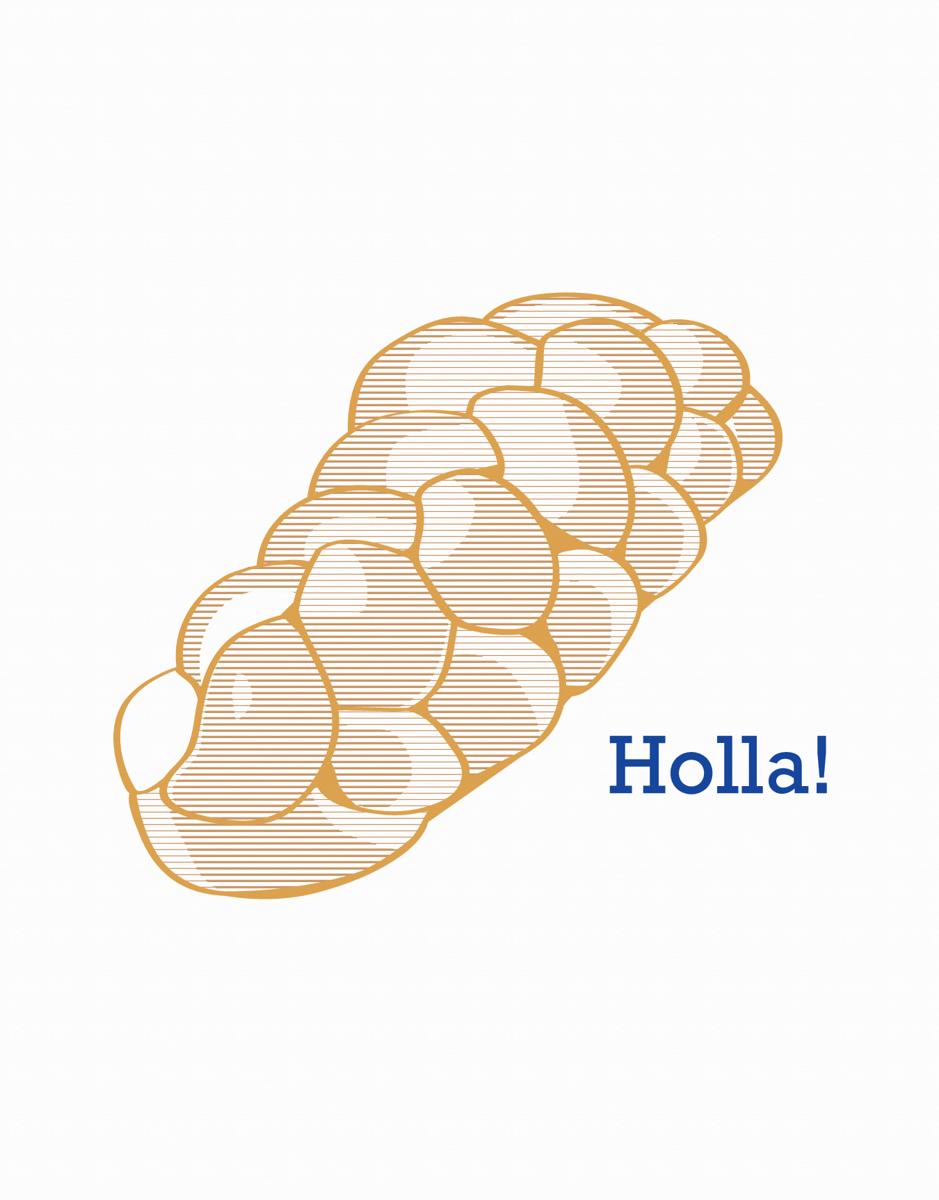 Funny Holla Jewish Card
