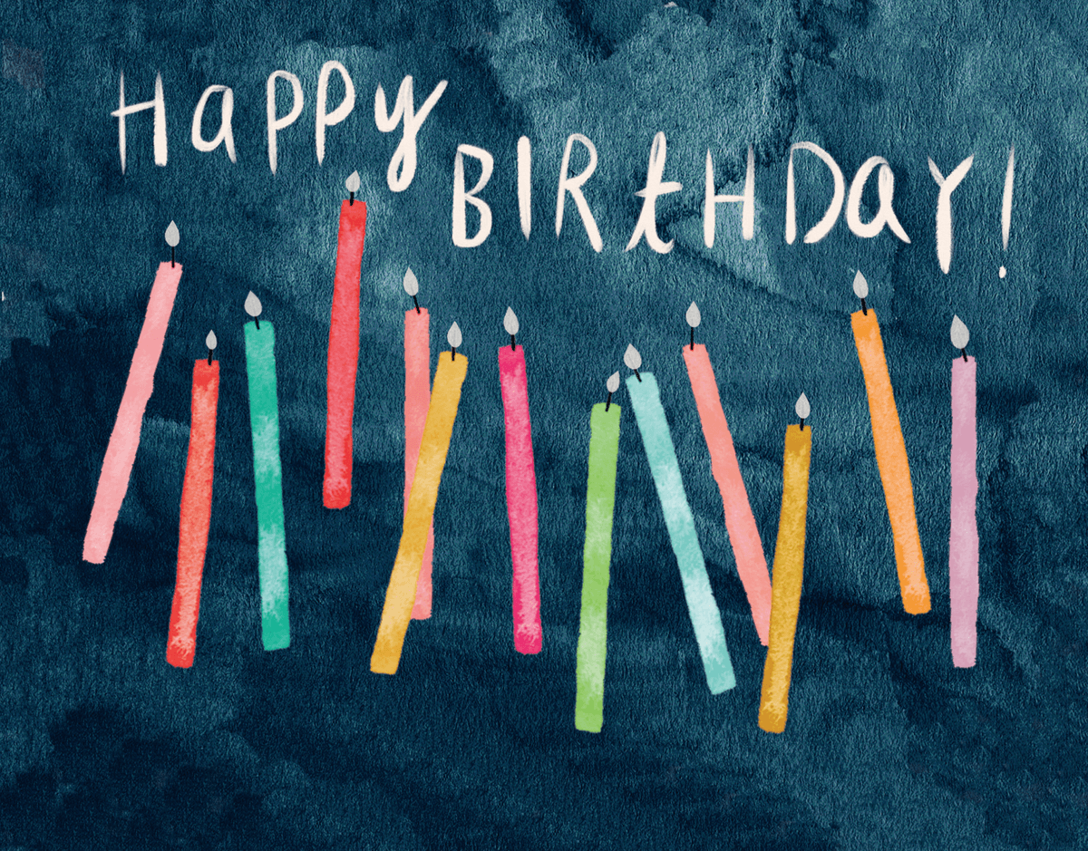 Watercolor Birthday Candles