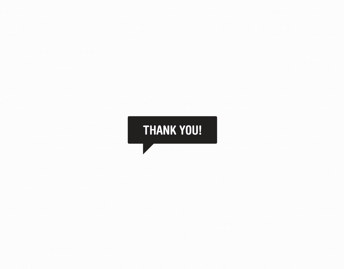 Black Thank You Blurb Greeting