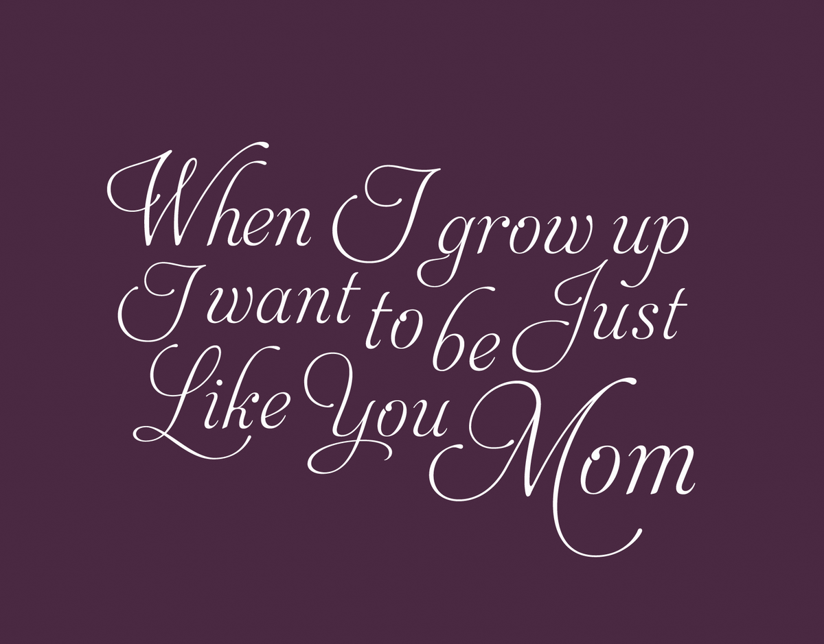 Maroon Calligraphy Mother's Day Card