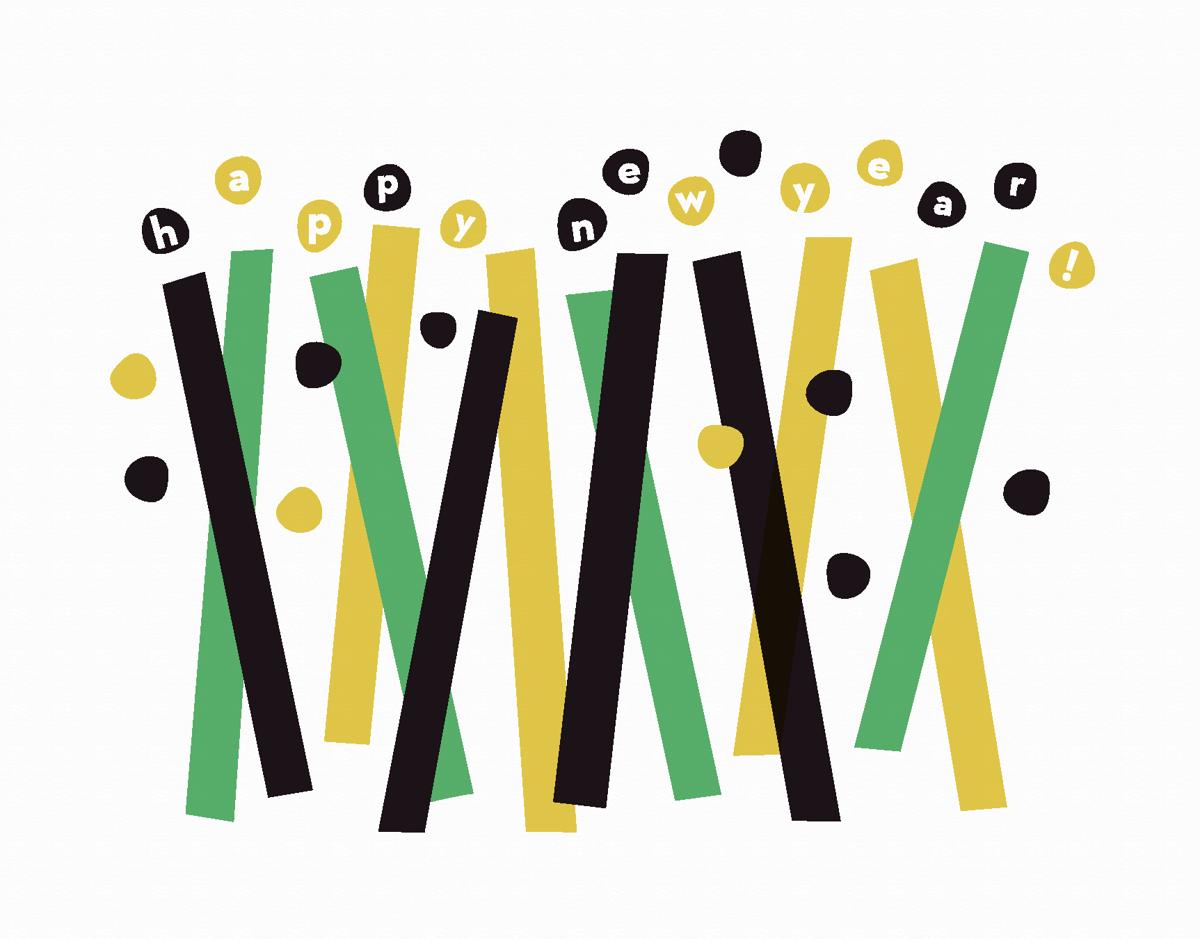 Abstract Happy New Year Confetti