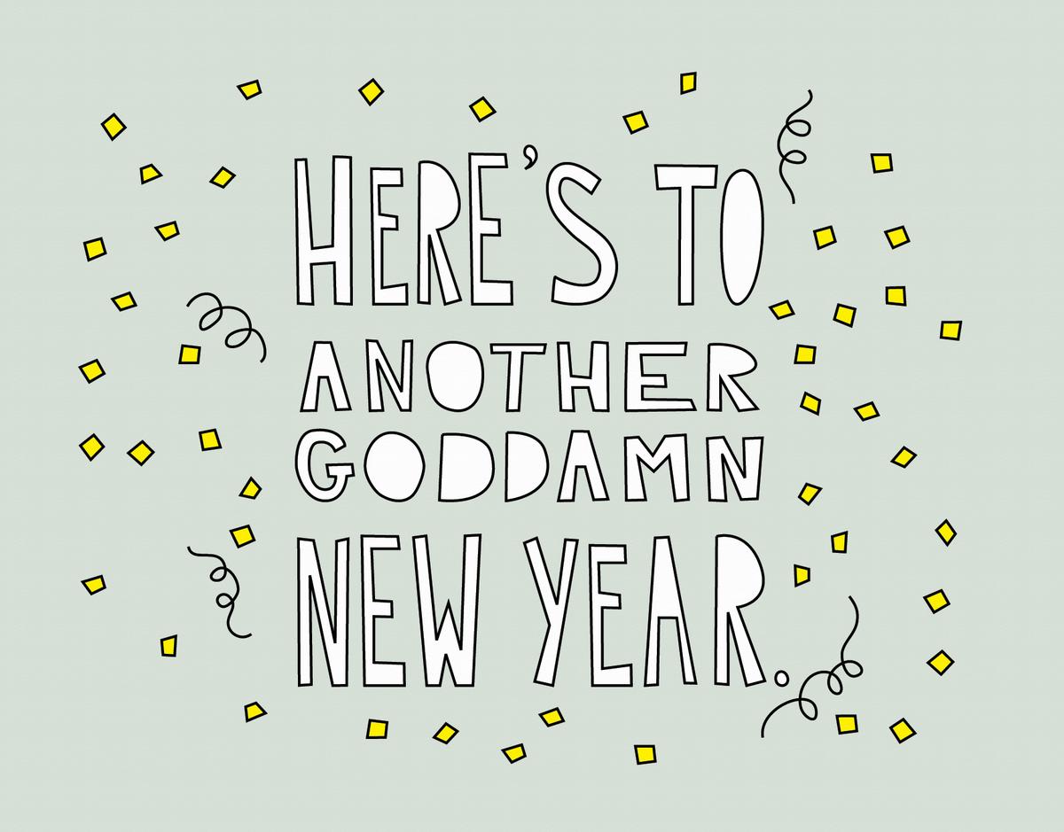 Modern Cheerful New Years Card