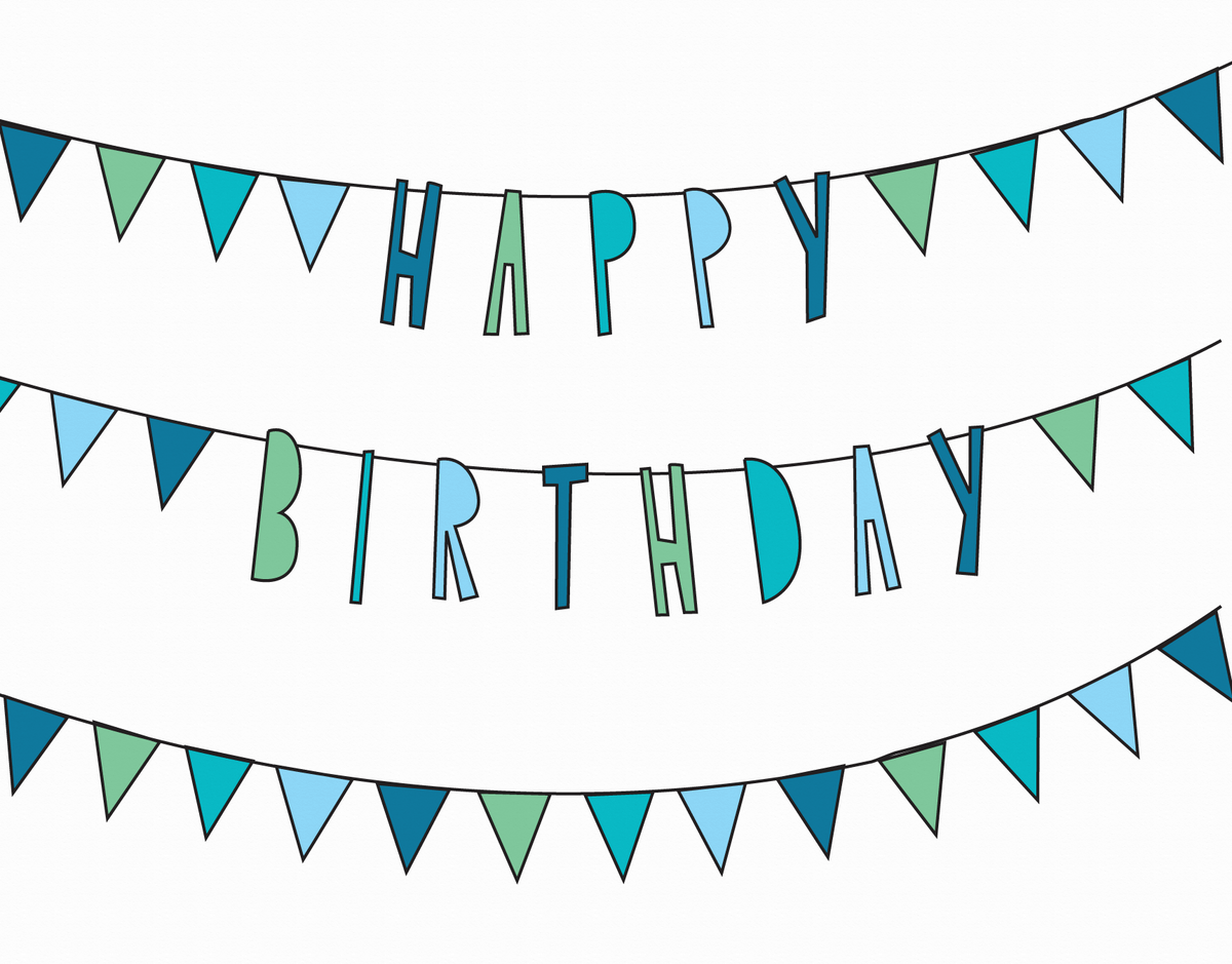 Bunting Flags Birthday Card