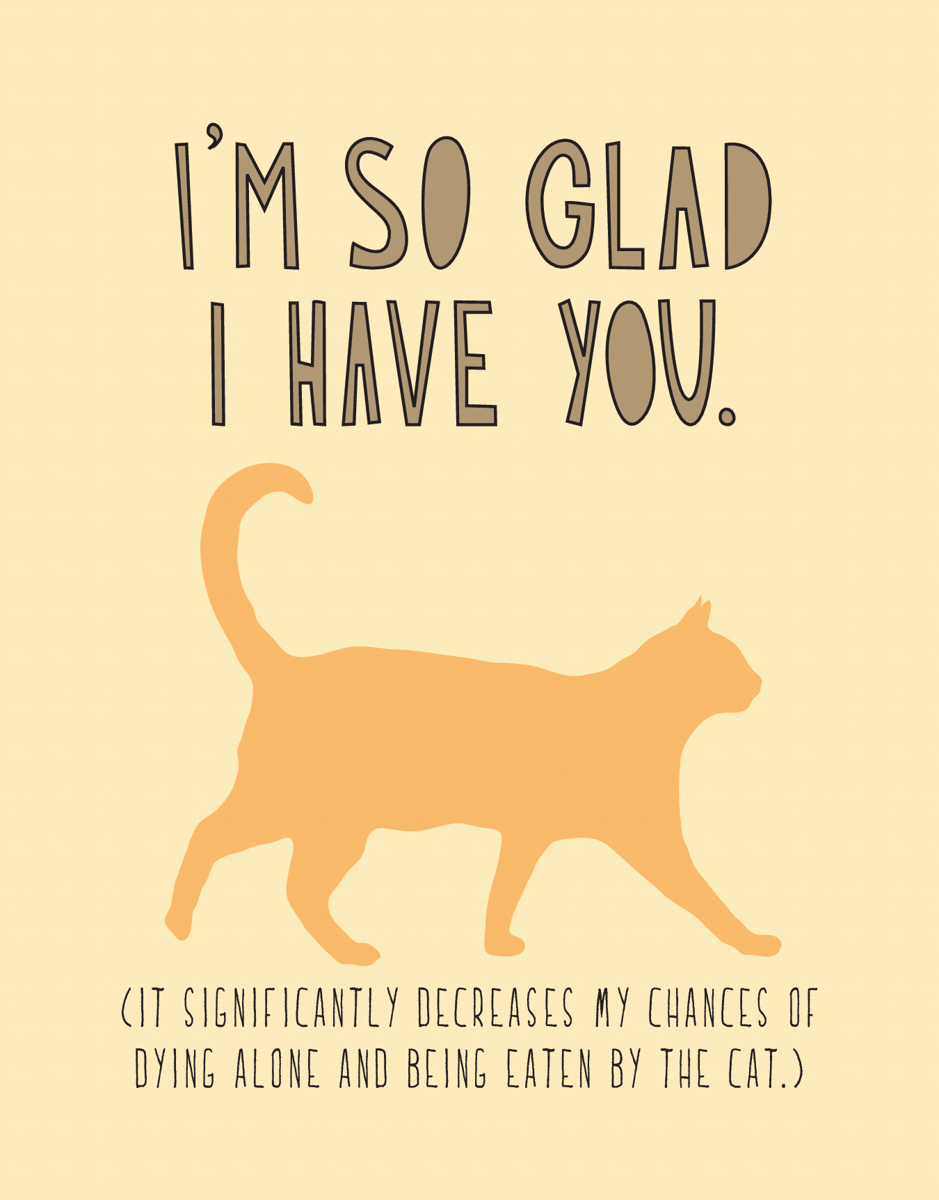 Cat Sarcastic Love Card