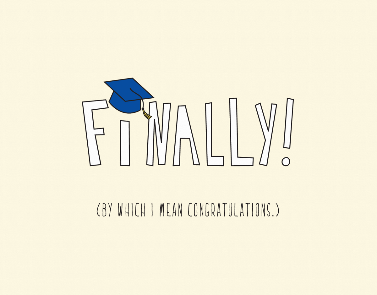 Funny Graduation Congrats Card