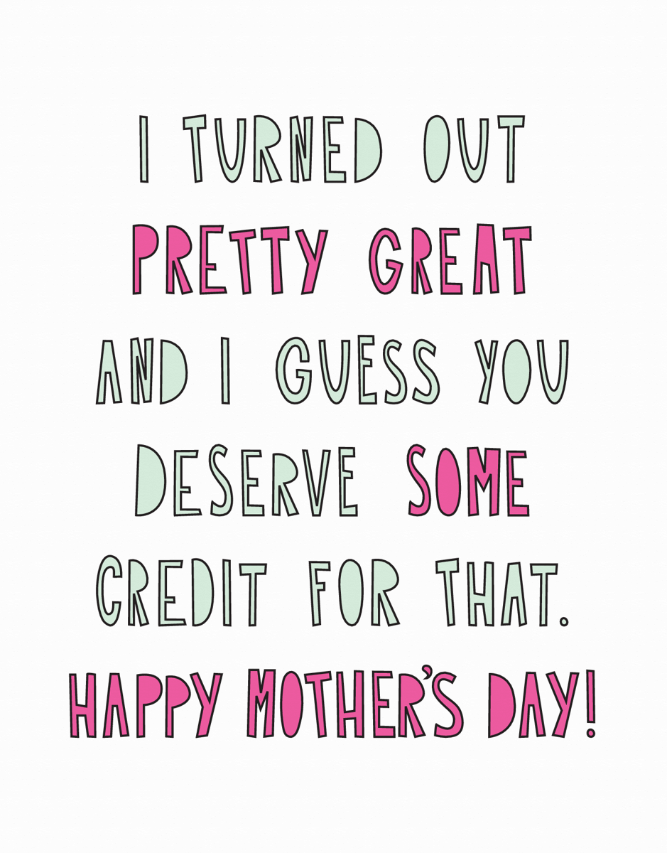 Funny Modern Mother's Day Card