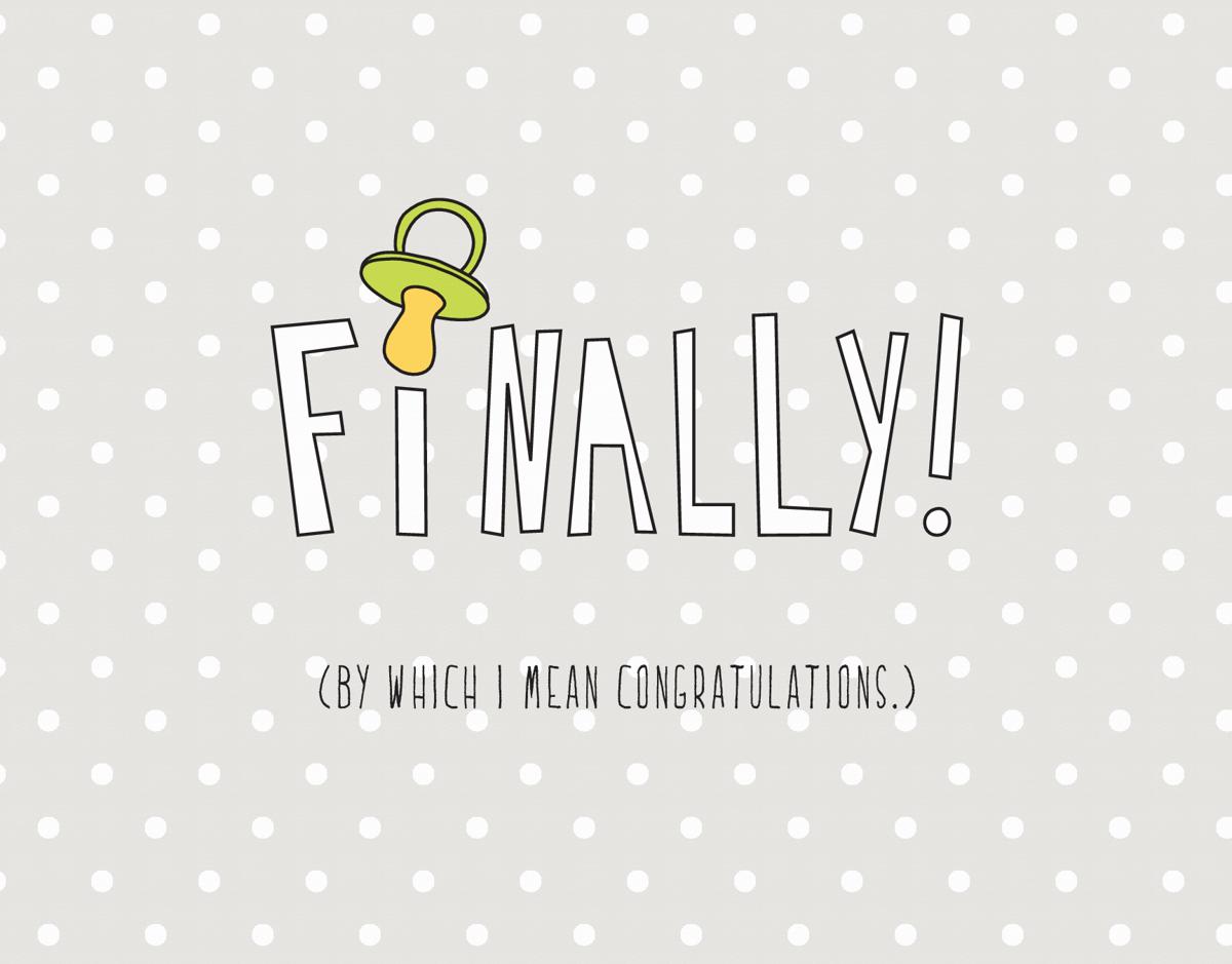 Polka Dot Witty Baby Congrats Card
