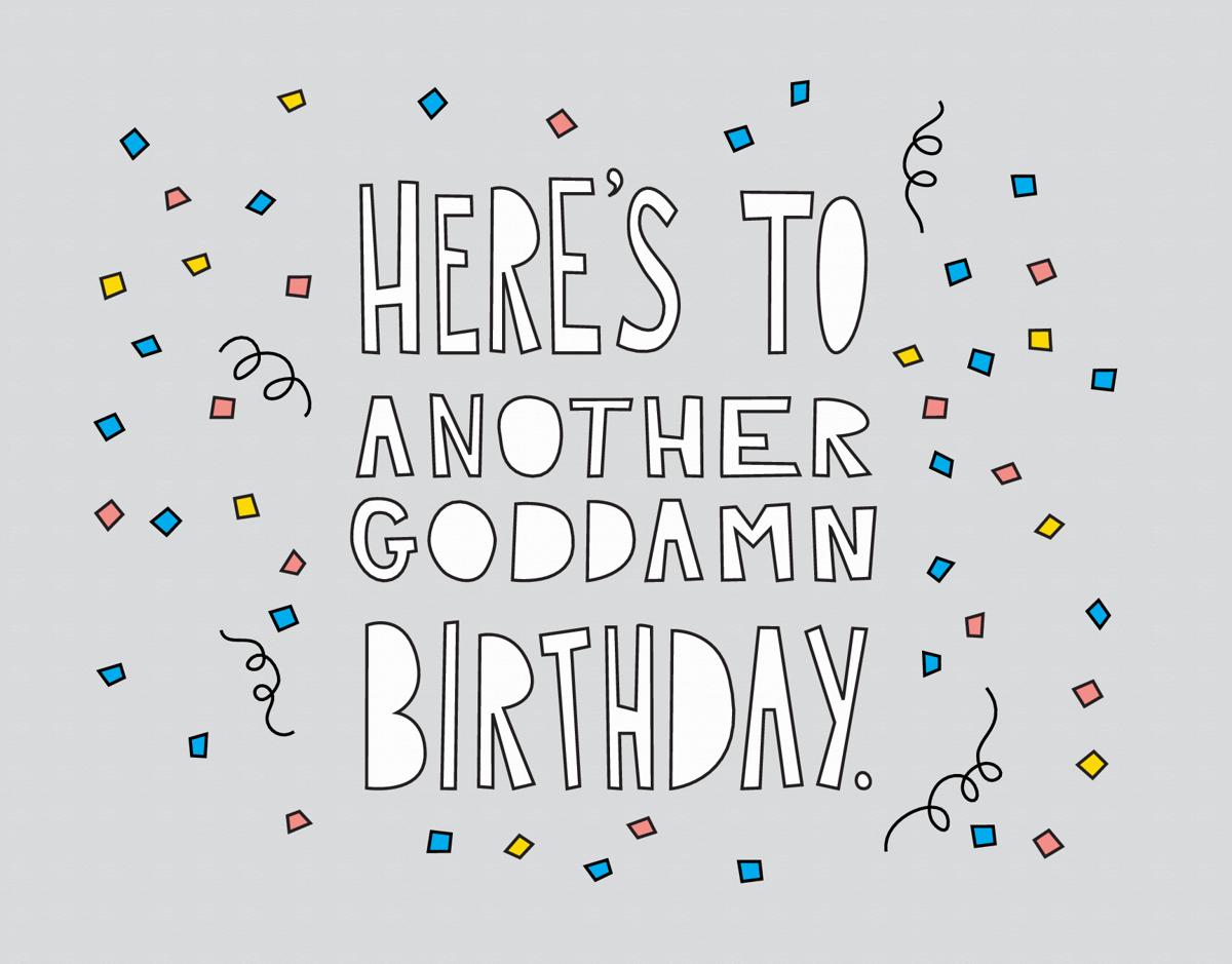Funny Confetti Birthday Card