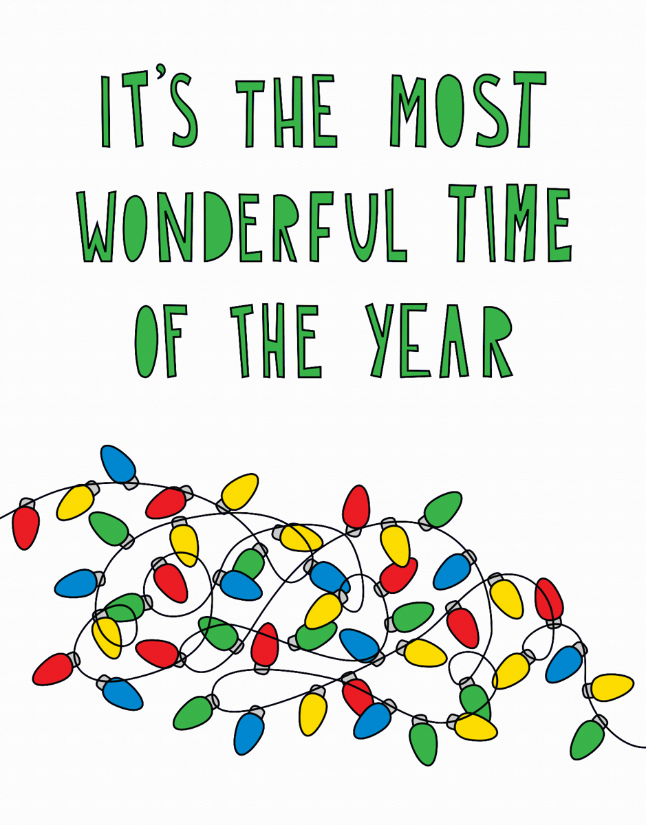 Wonderful Time of Year Holiday Card