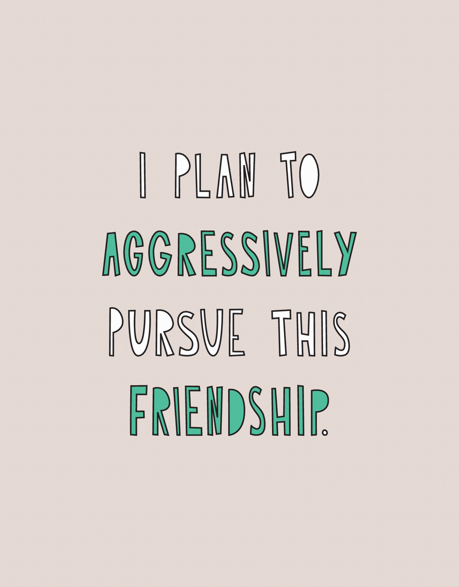 Pursue This Friendship