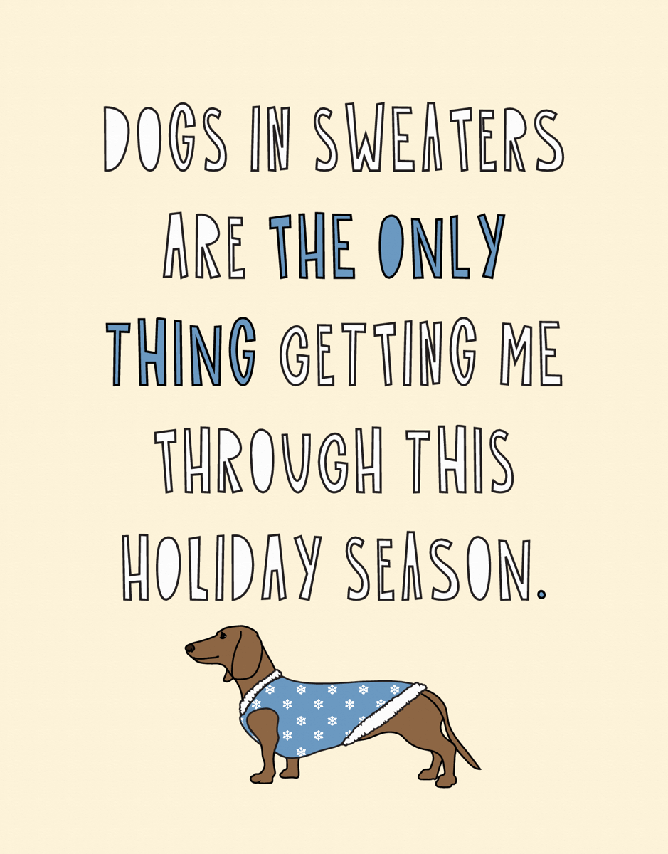 Dogs In Sweaters