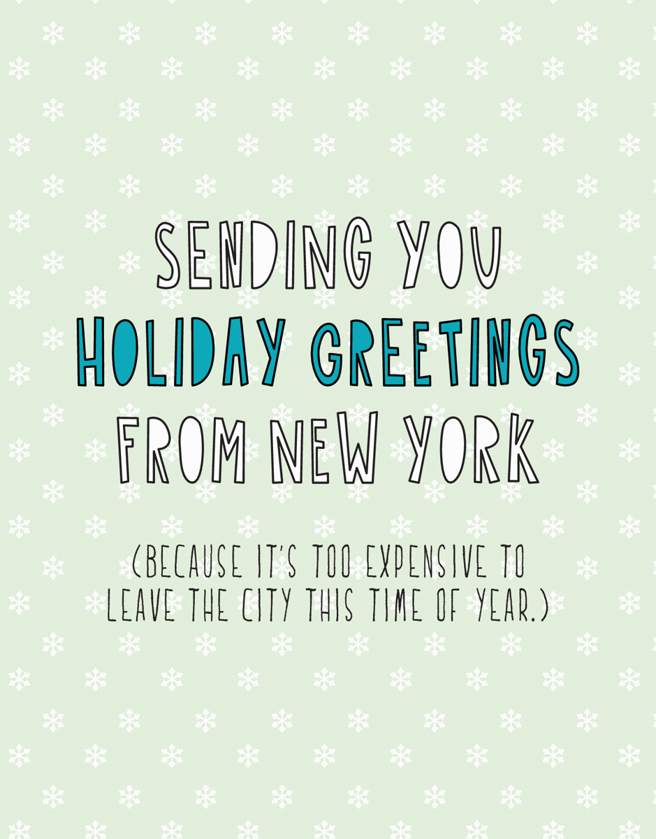 Holiday Greetings From New York