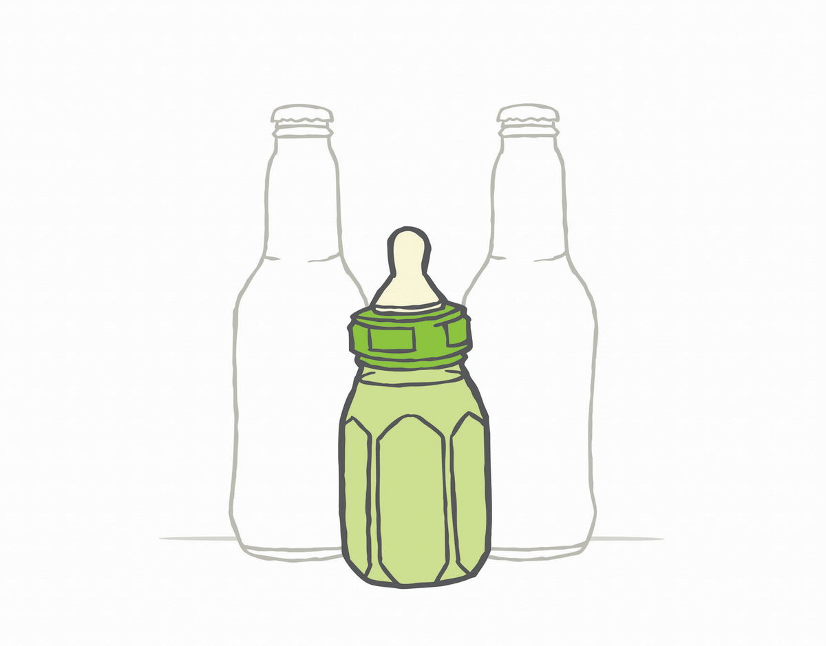 Beer Bottles Congrats baby Card