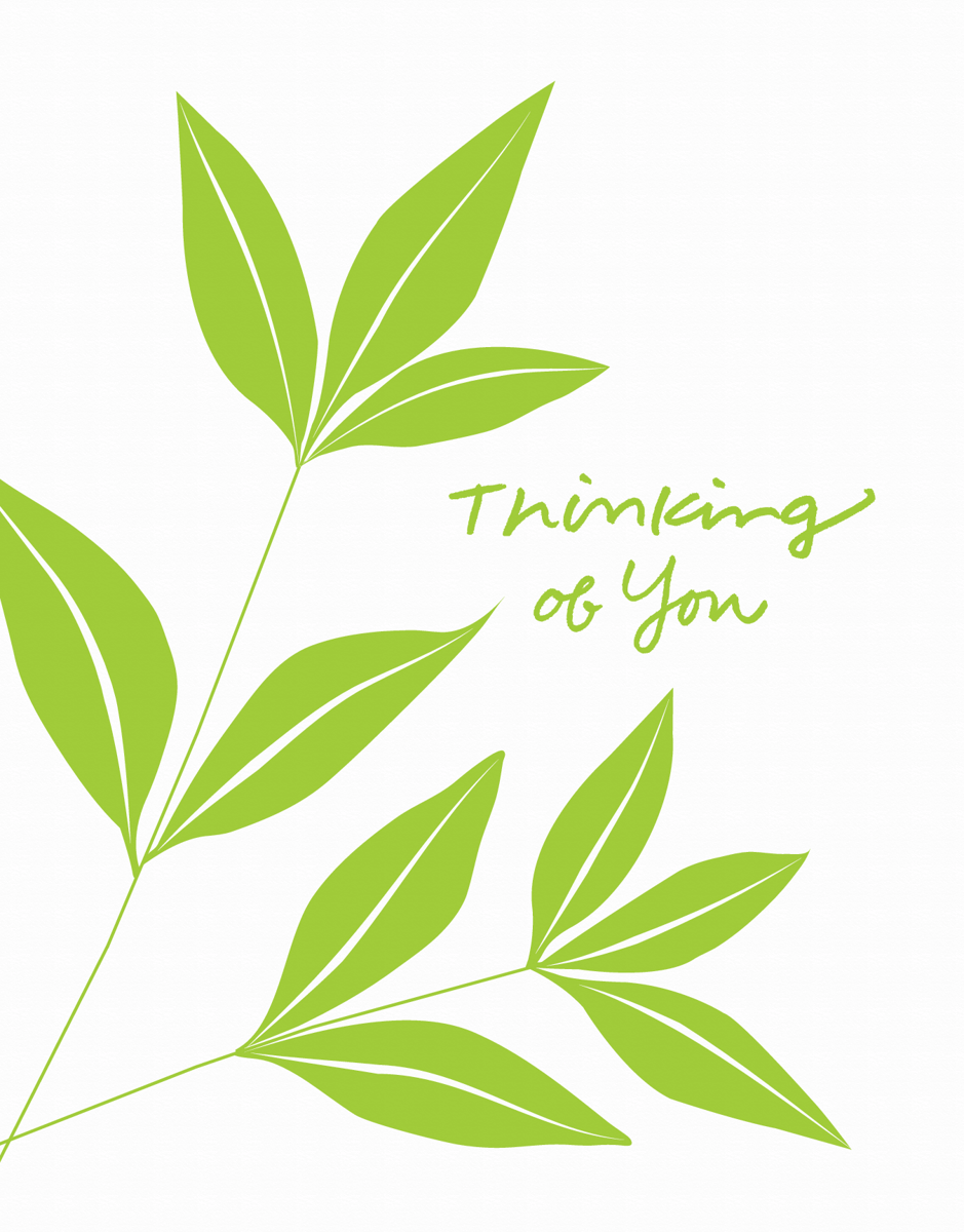 Simple Leaves Thinking of You Card