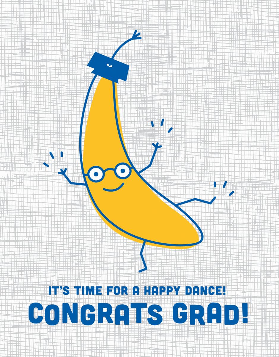 Dancing Banana Graduation Congratulations Card
