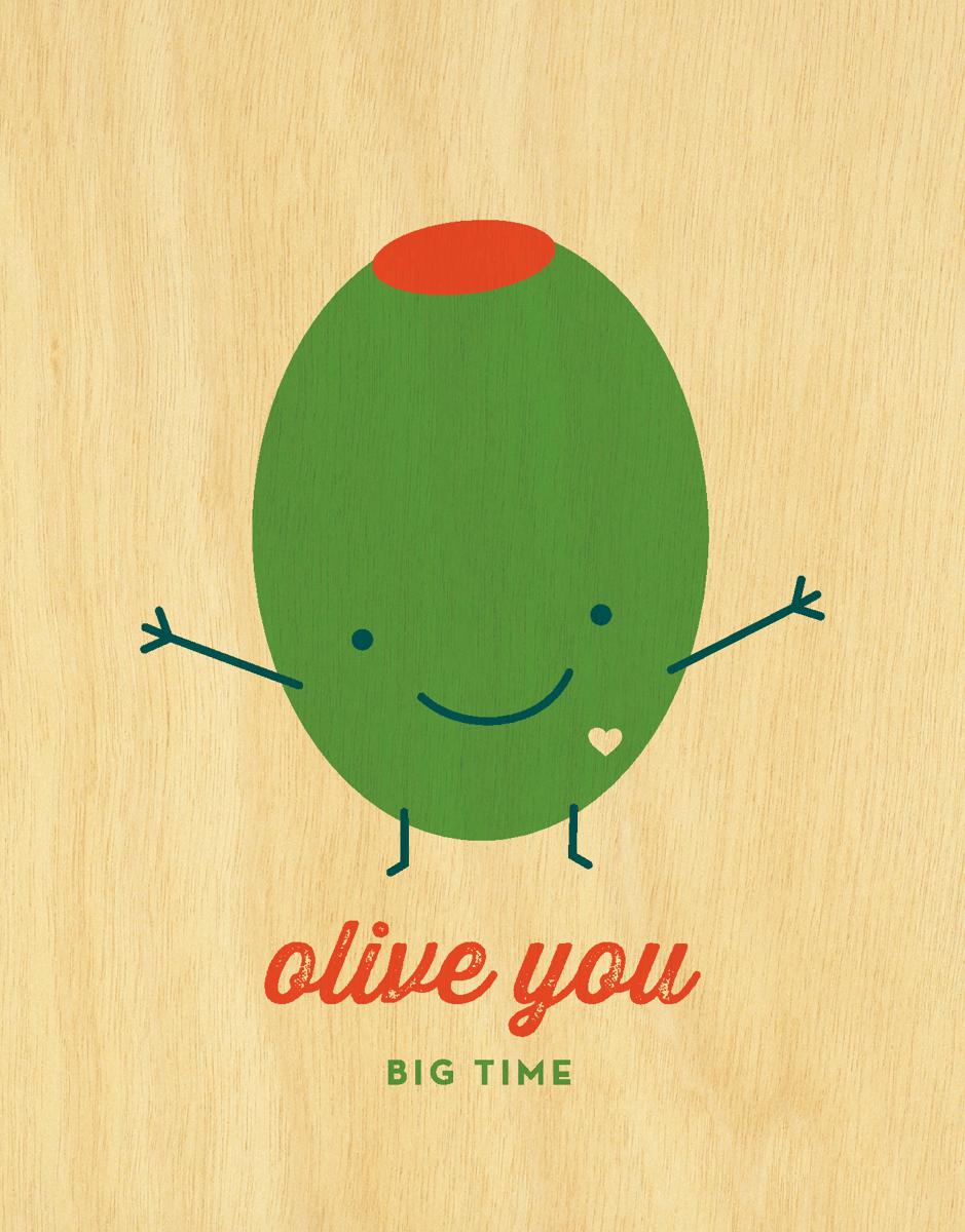 Cute Pun Olive  You Card