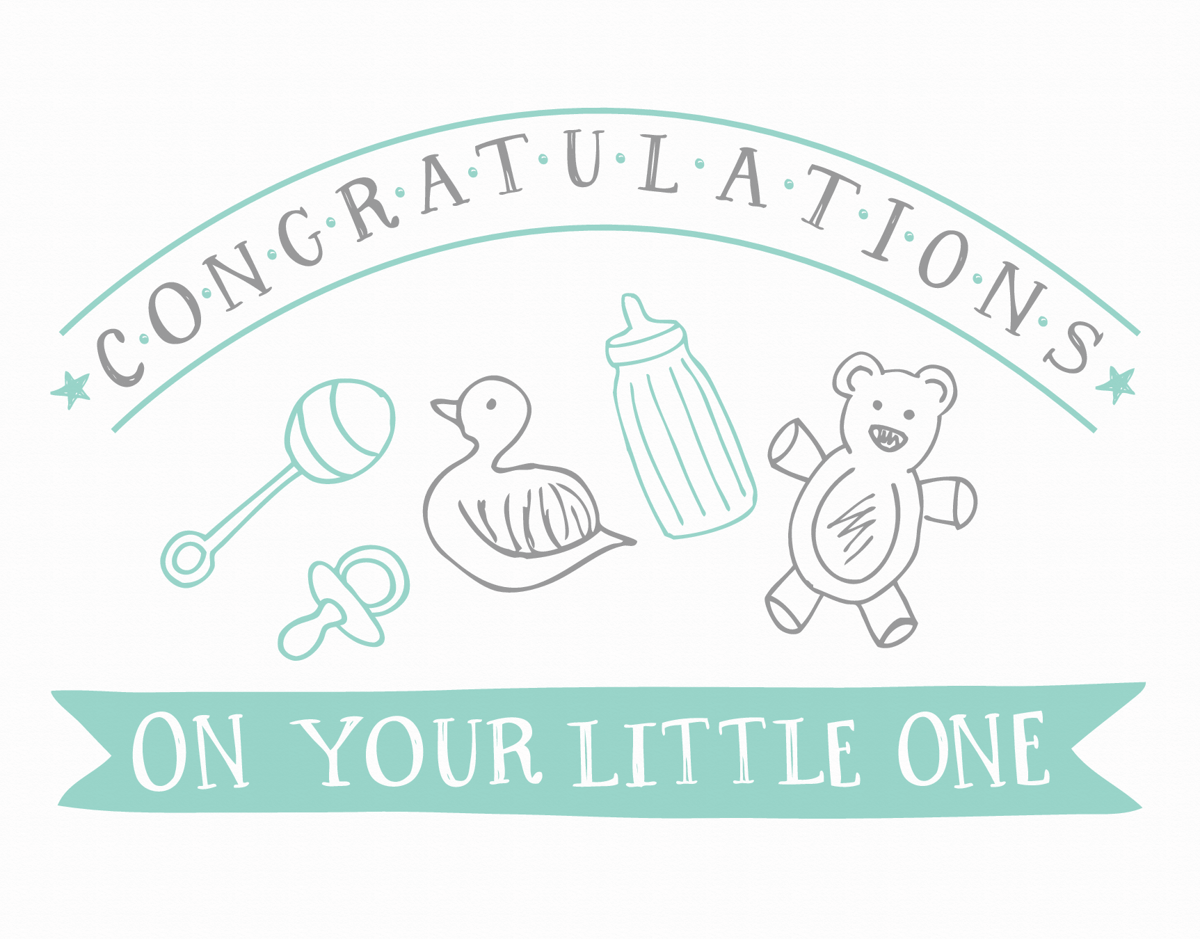 Banner Congratulations on Your Little One