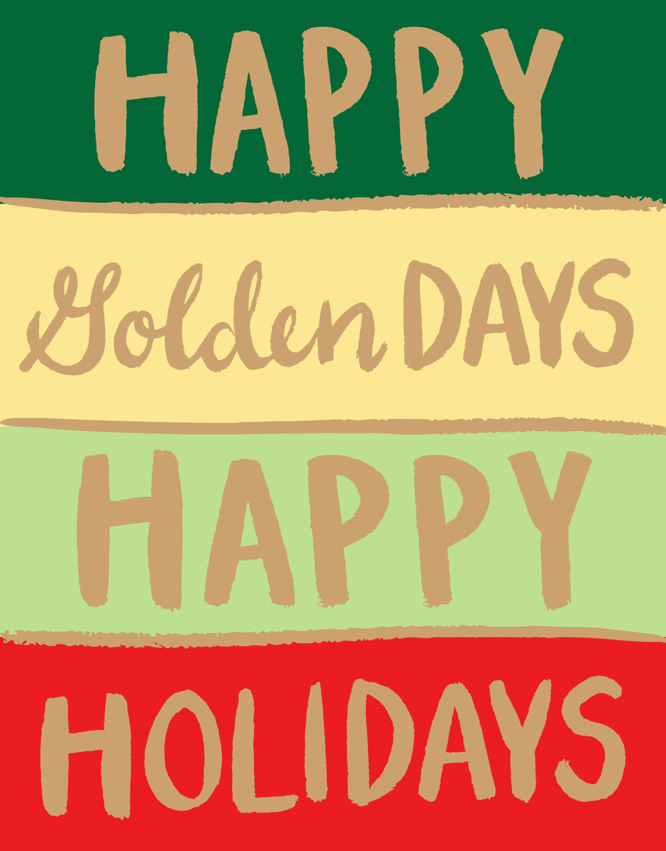 colorful happy golden days holiday greeting