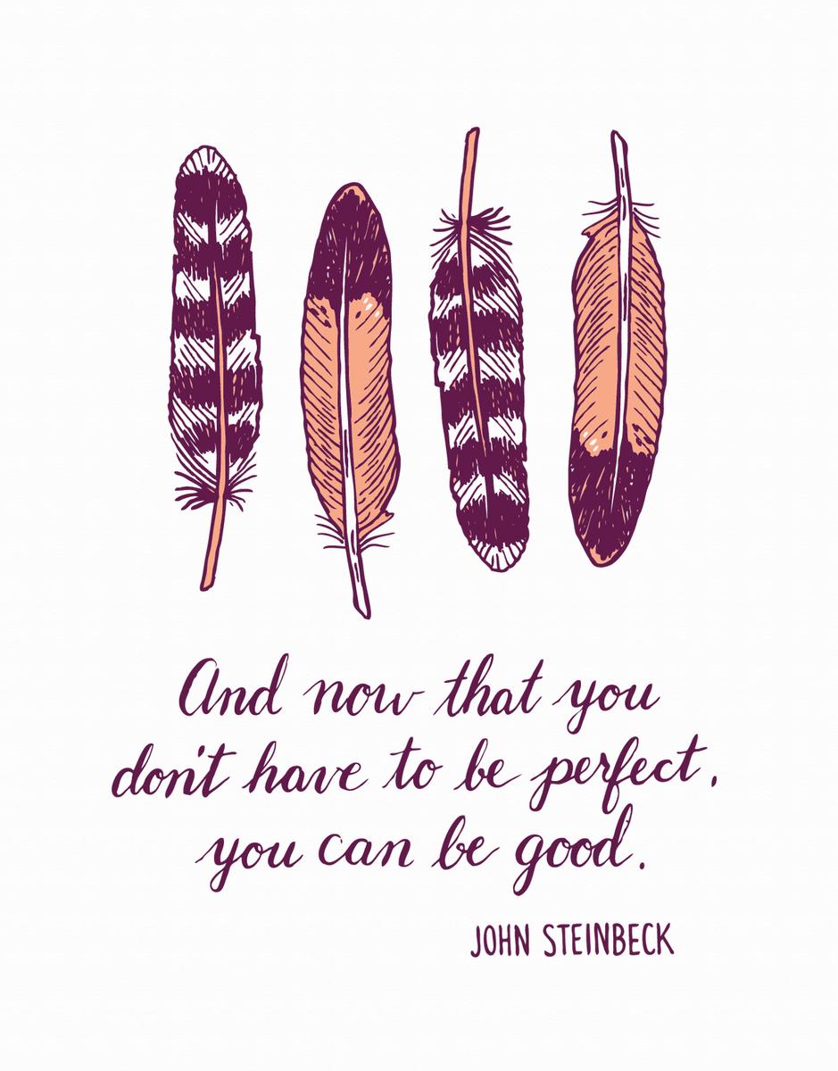 Steinbeck Encouragement