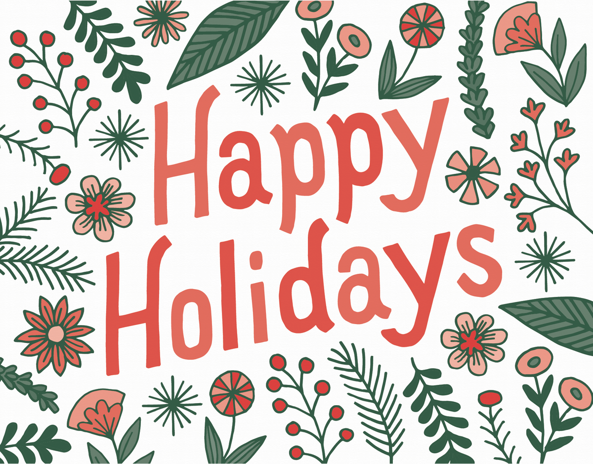 Happy Holidays Floral