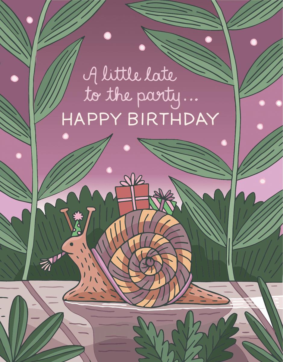 Belated Birthday Snail