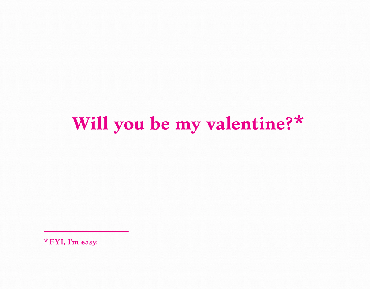 Funny Be My Valentine Card