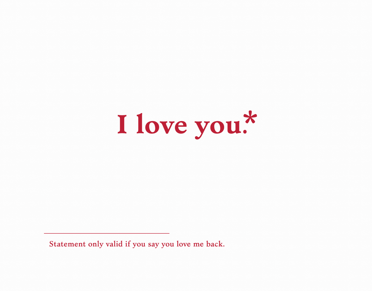 Funny I Love you Card