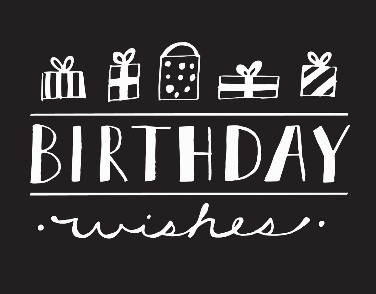Hand Drawn Gifts Happy Birthday Card