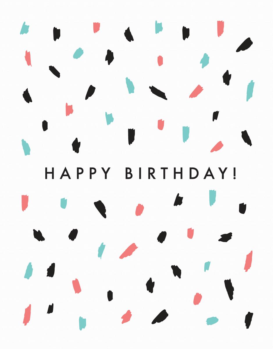 Confetti Happy Birthday Card