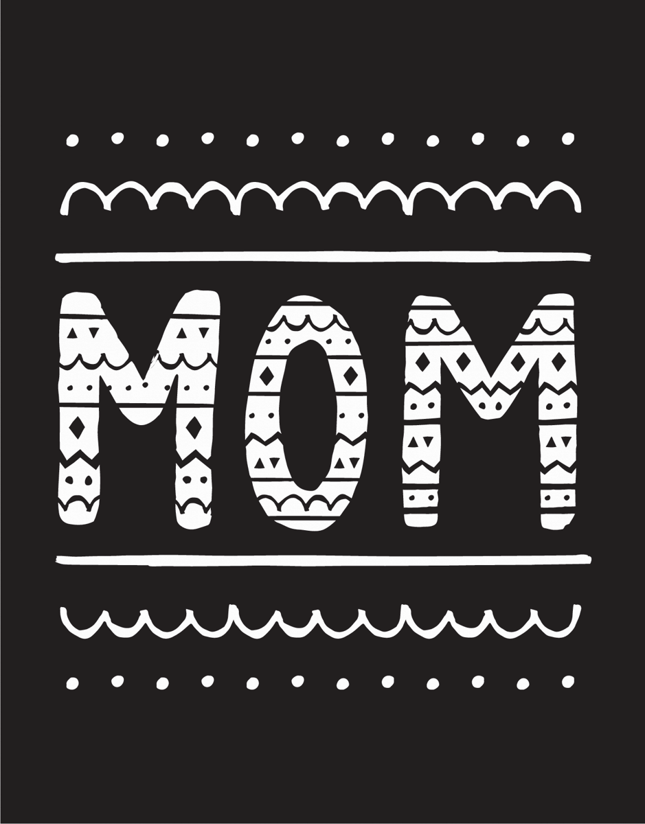 Mom Doodle Mother's Day Card