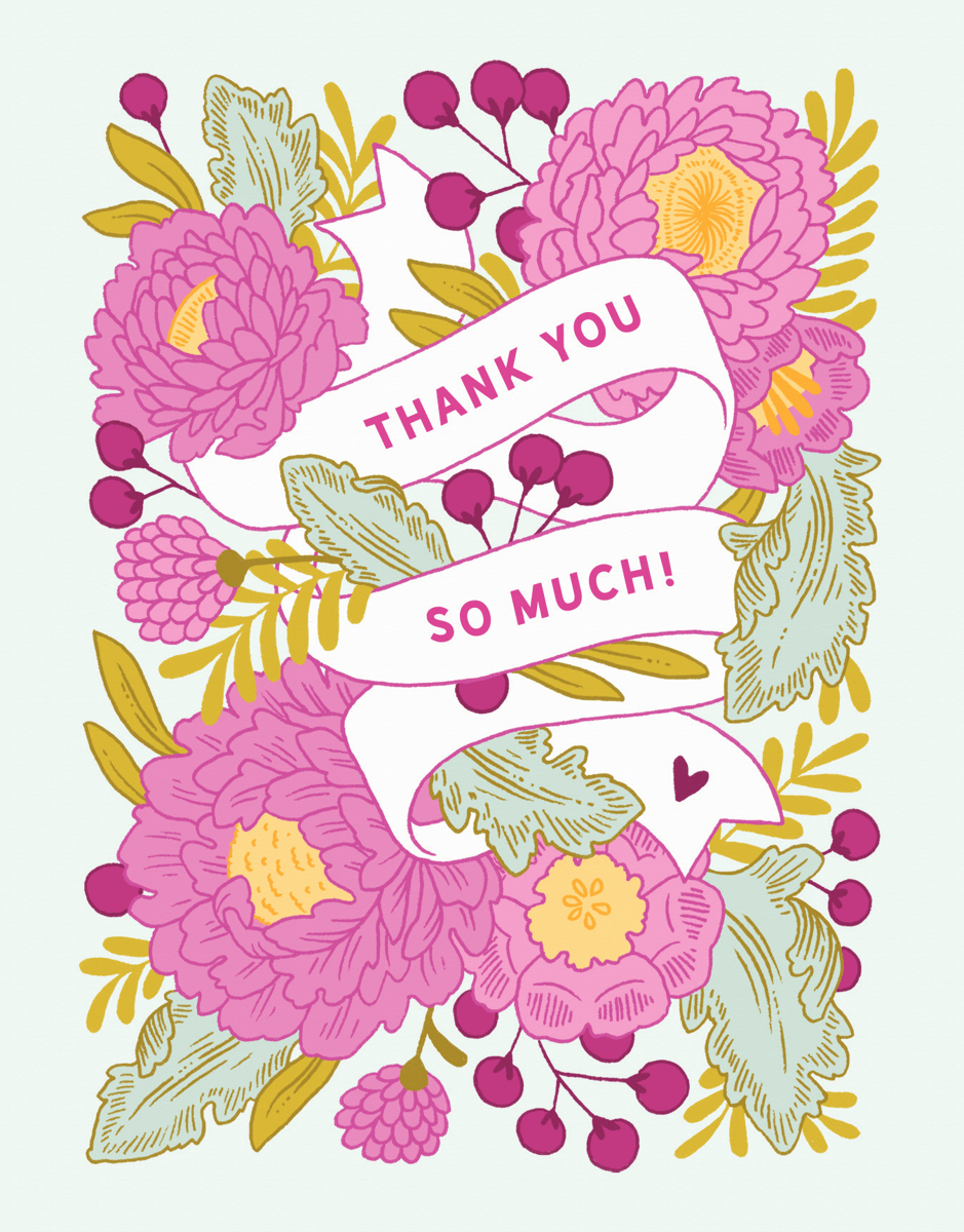 Floral Banner Thank You