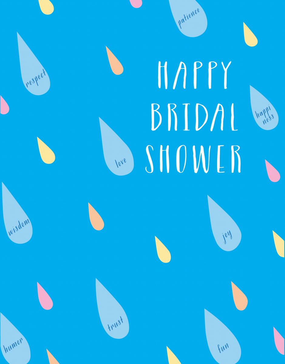 Bridal Shower Raindrops