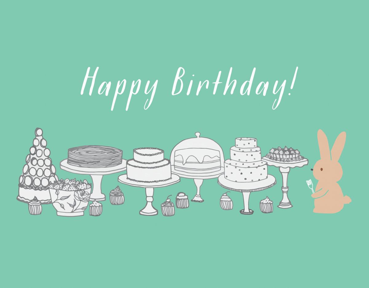 Bunny Birthday Desserts