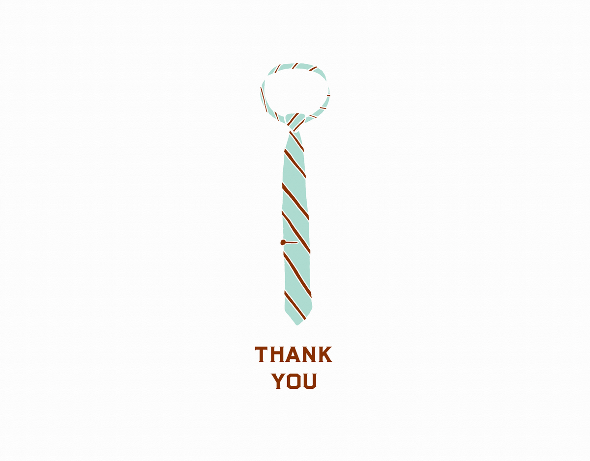 Striped Tie Thank You Card