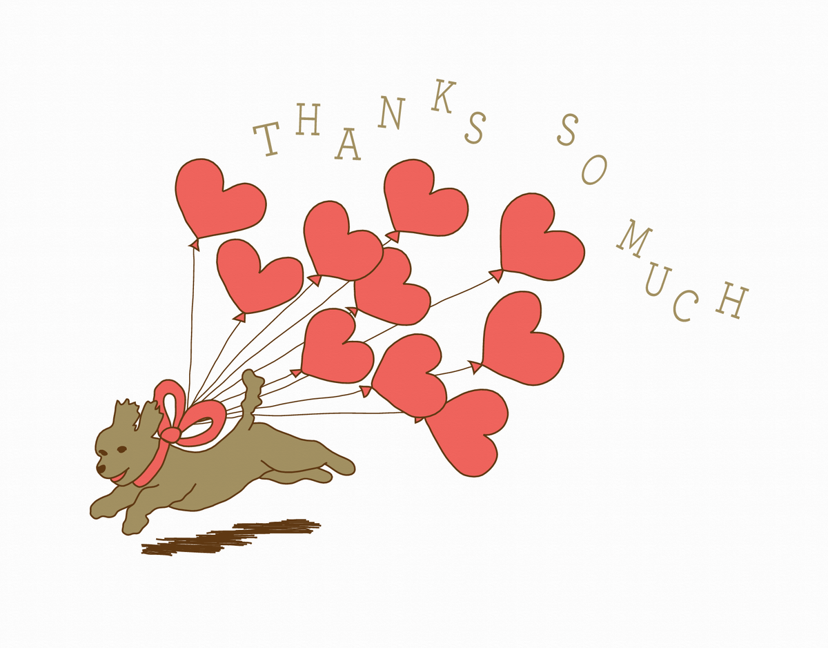 Puppy Love Thank You Card