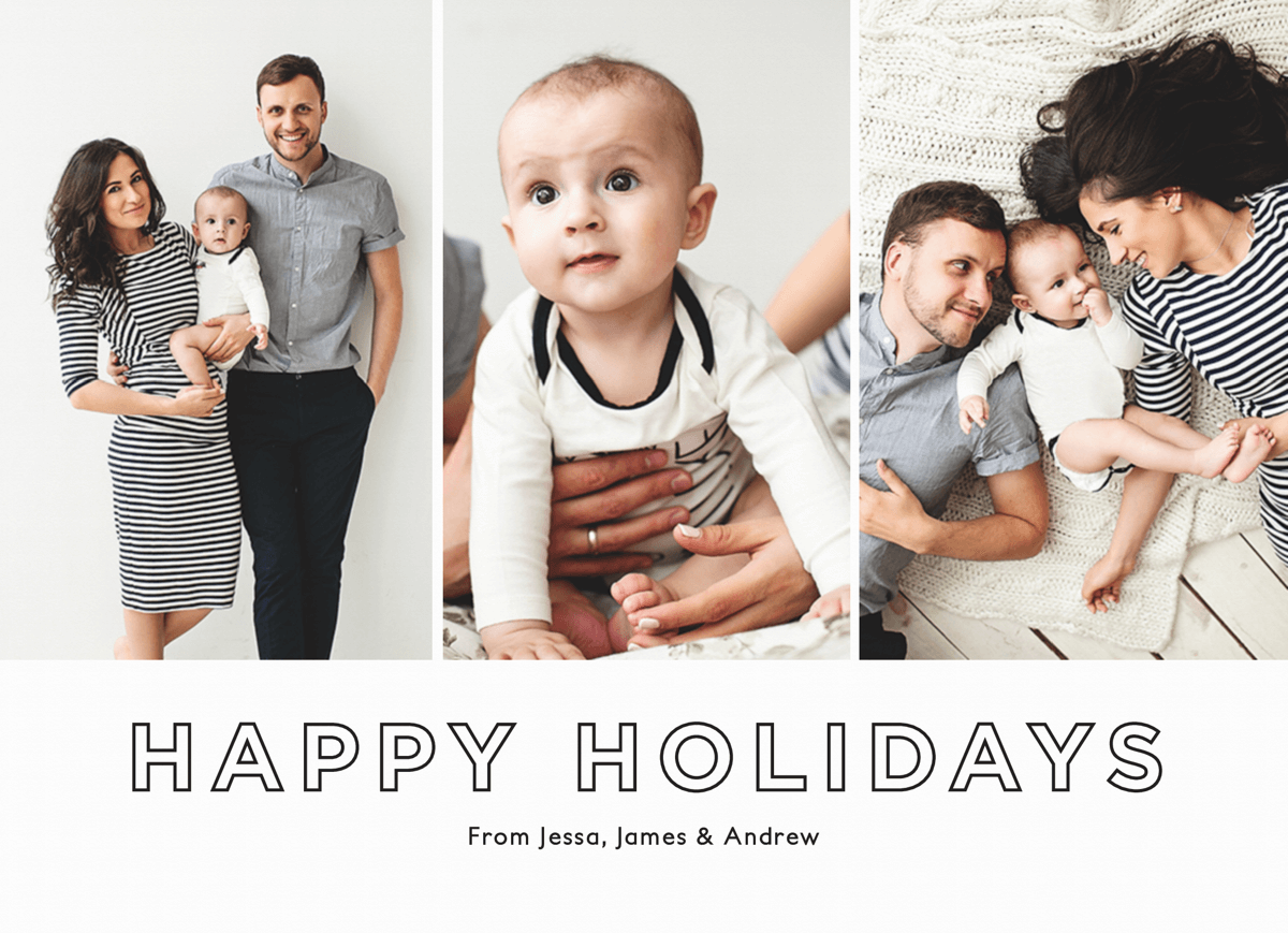 minimal design happy holidays collage template