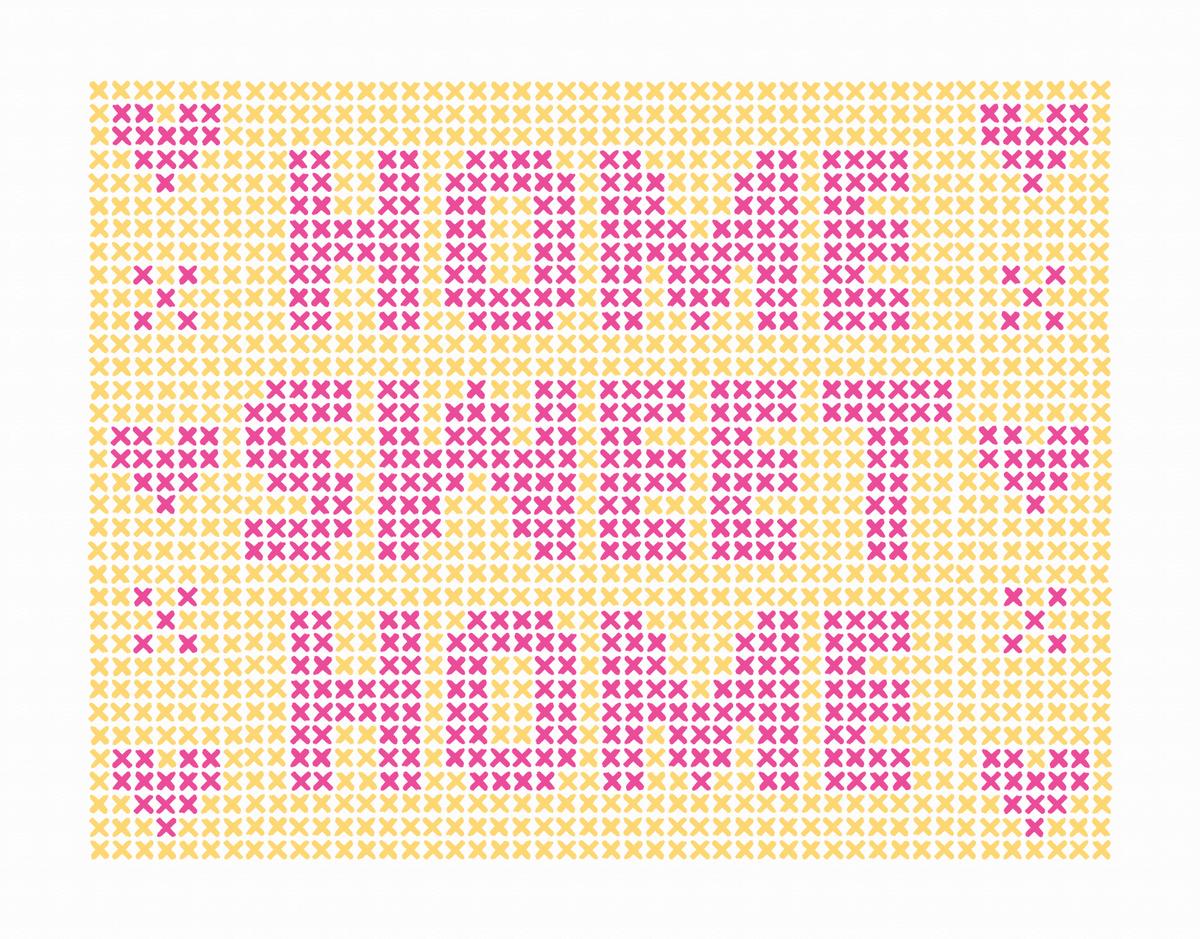 Needlepoint Home Sweet Home Card