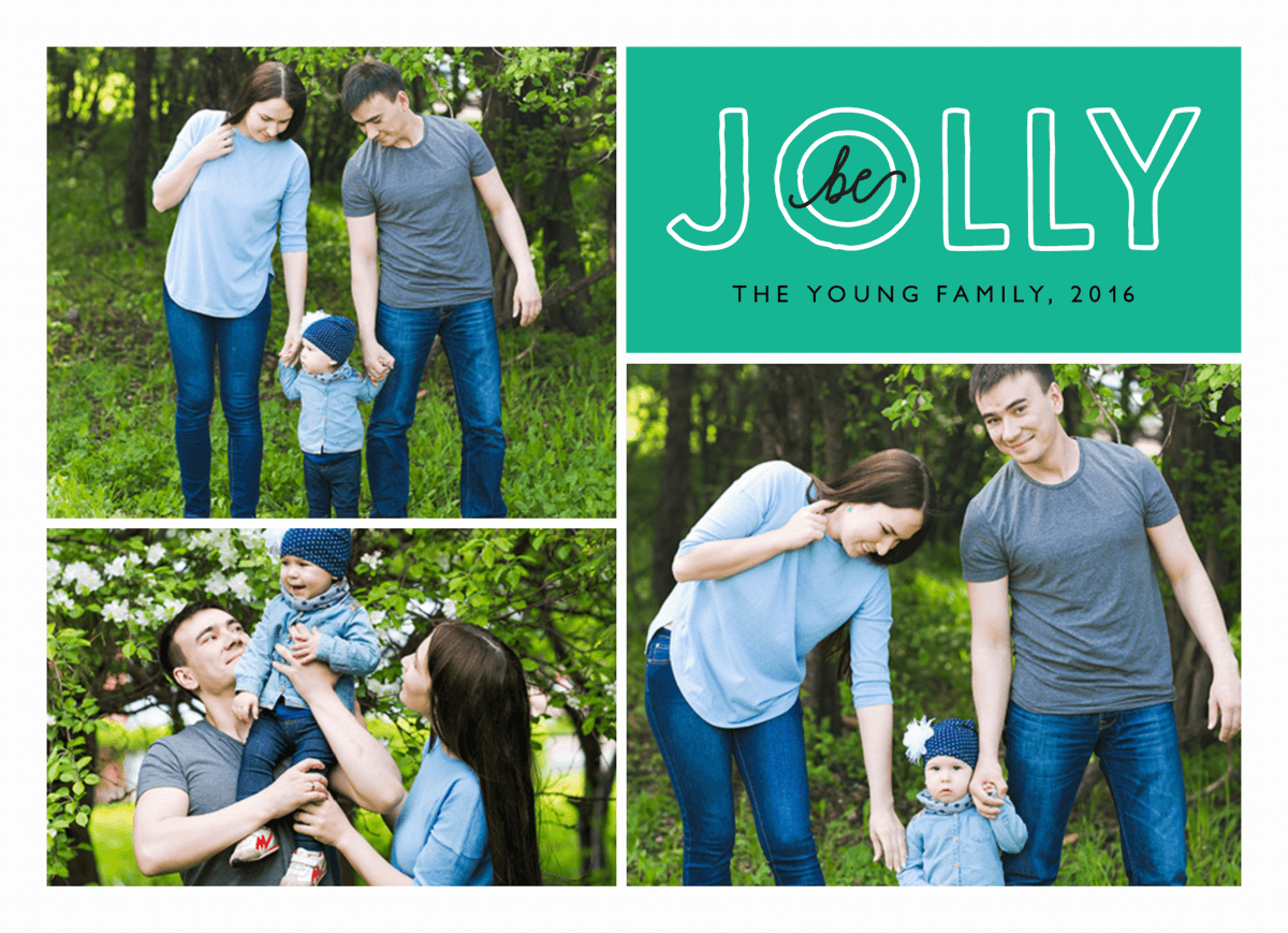 be jolly holiday photo card