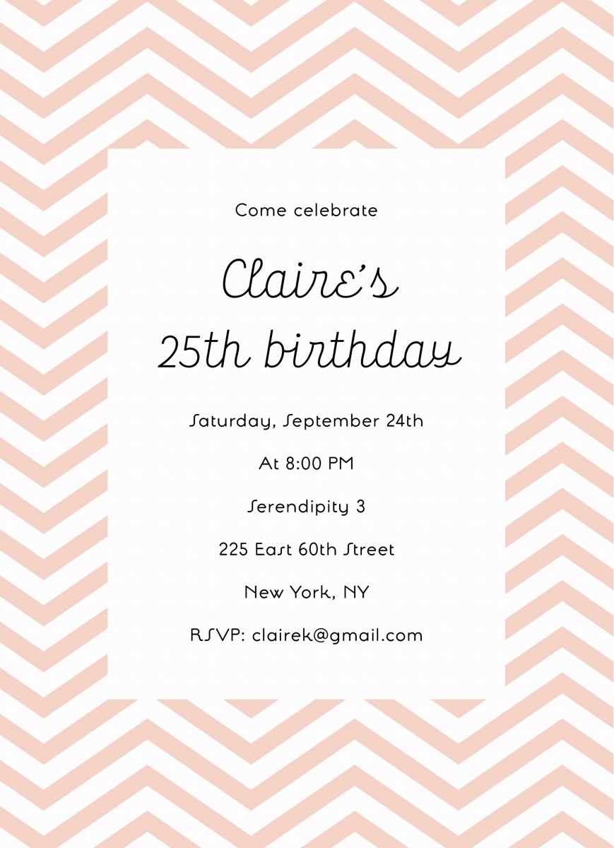 Chevron Birthday Invite