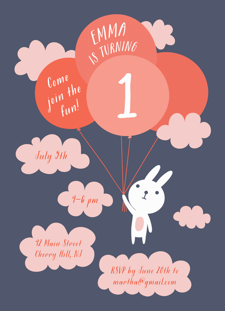 Bunny And Balloons